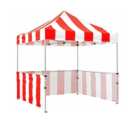 Carnival Tent Booth (Red & White)