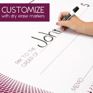 Giant Dry Erase Cheque