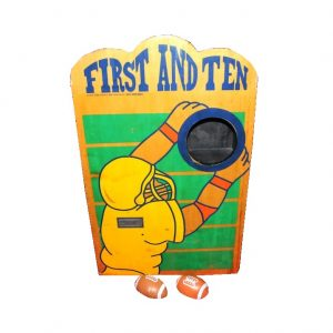 Wooden First & Ten Carnival Game