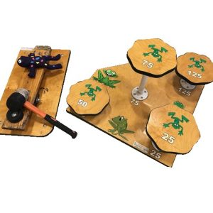Wooden Frogger Pad Carnival Game