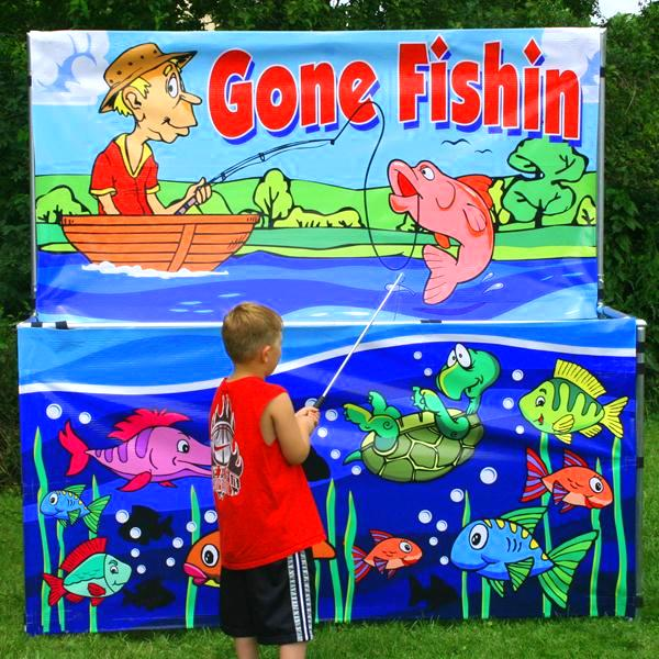 Freestanding Gone Fishing Game