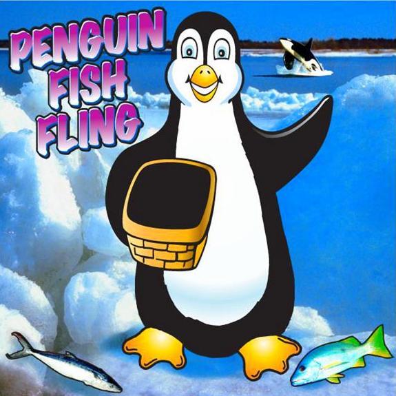 Freestanding Penguin Fish Fling Game