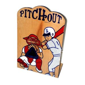Wooden Pitch Out Carnival Game