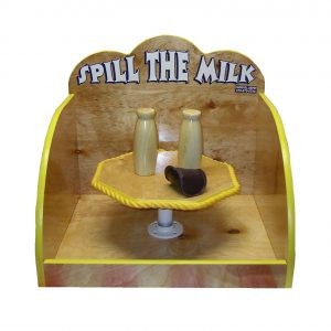 Wooden Spill Milk Carnival Game
