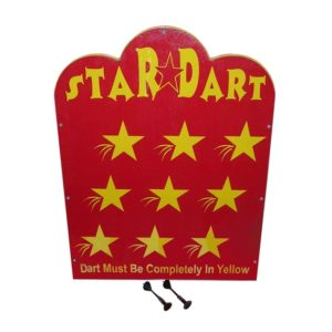 Wooden Star Dart Carnival Game