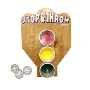 Wooden Stop & Throw Carnival Game