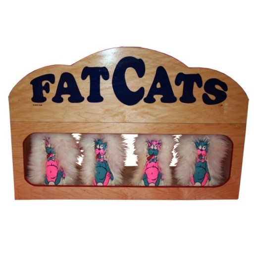 Wooden Fat Cats Carnival Game