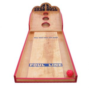 Wooden Skeeball Carnival Game