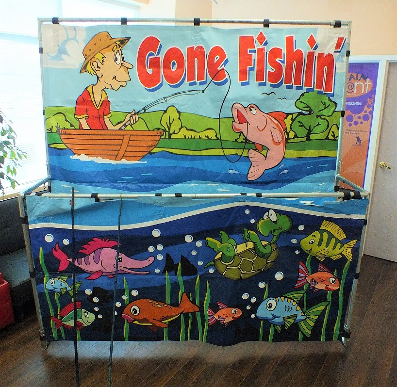Gone Fishing Frame Game rental indoors events