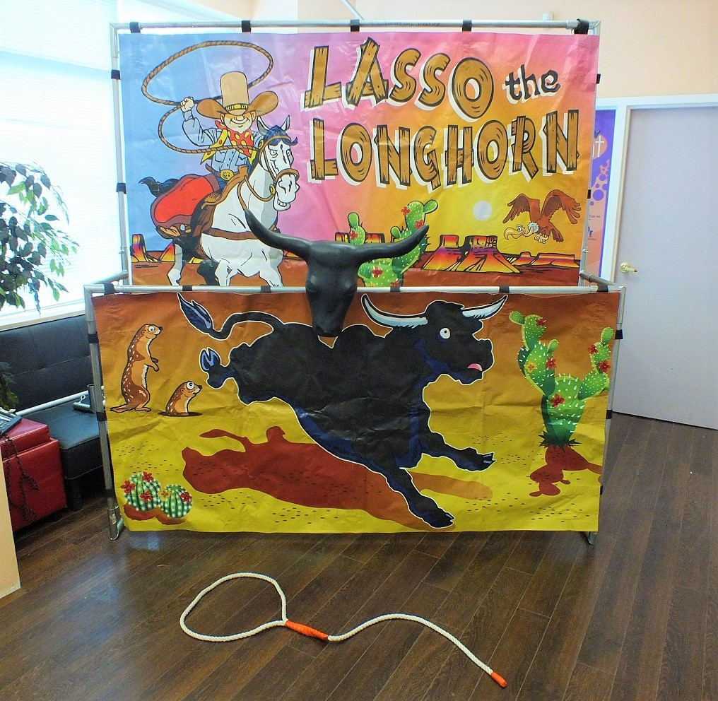 Lasso Longhorn Frame Game Rental Mississaga