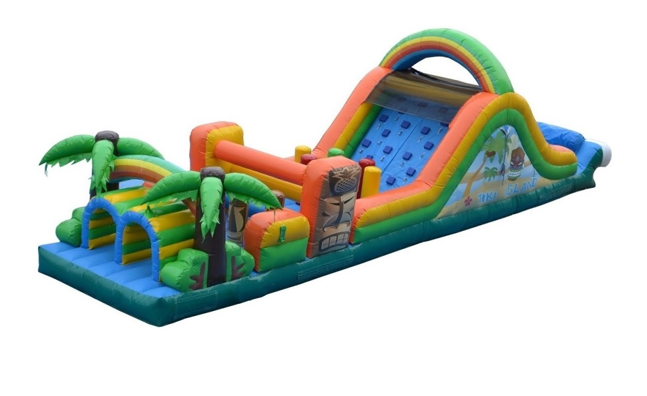 Tiki Trek Inflatable Jungle Theme Obstacle Course