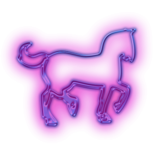Glowing Purple Horse