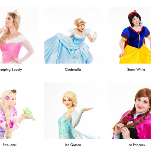 Disney Princesses (Sleeping Beauty, Cinderella, Snow White, Rapunzel, Elsa, Anna)