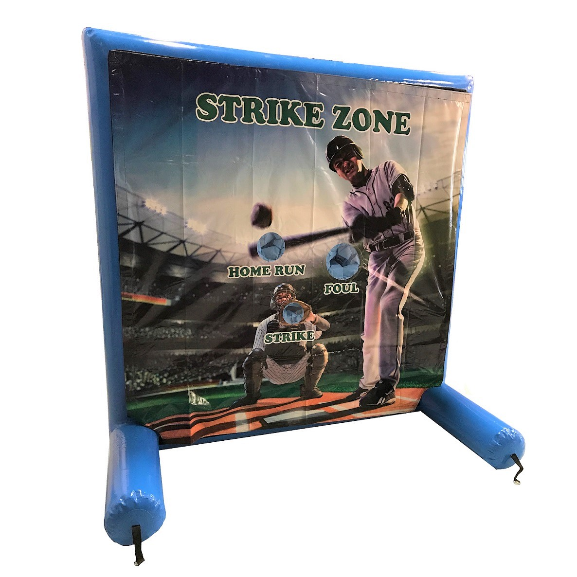 Baseball Toss pitch inflatable skill game