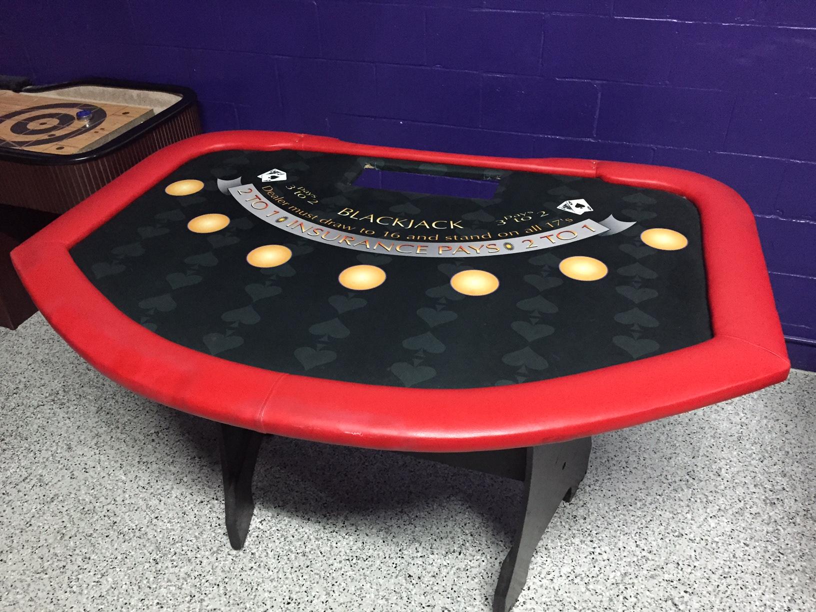 Black Jack Casino Table