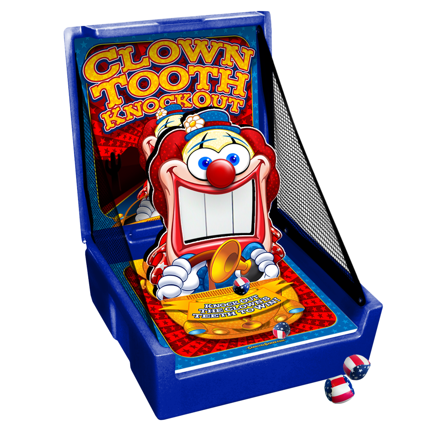 Carnival Case Game: Clown Teeth Toss