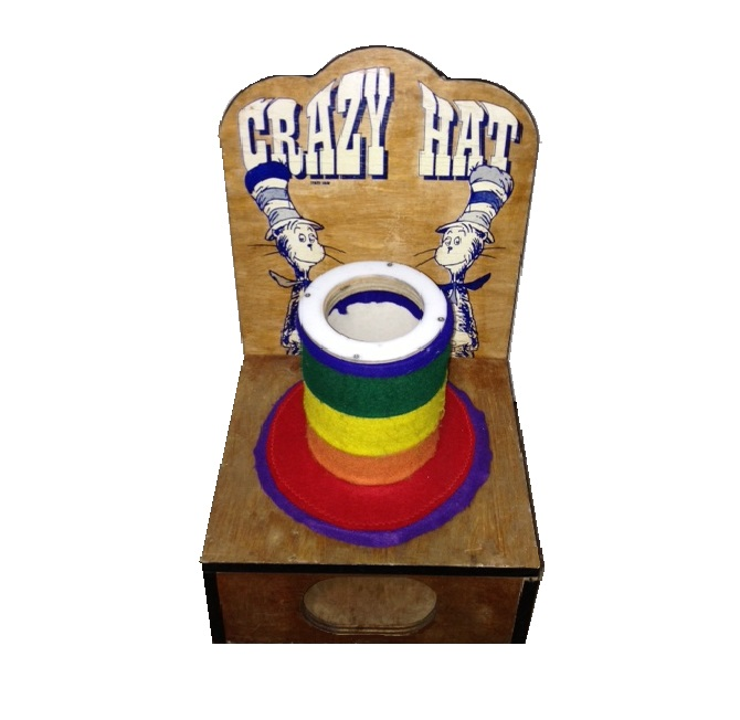 Wooden Crazy Hat Carnival Game