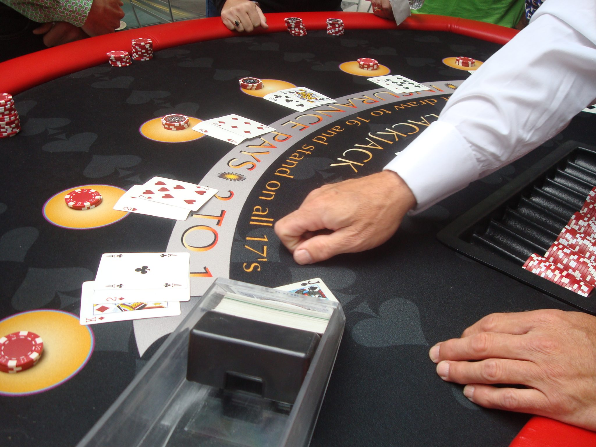 Black Jack Casino Table