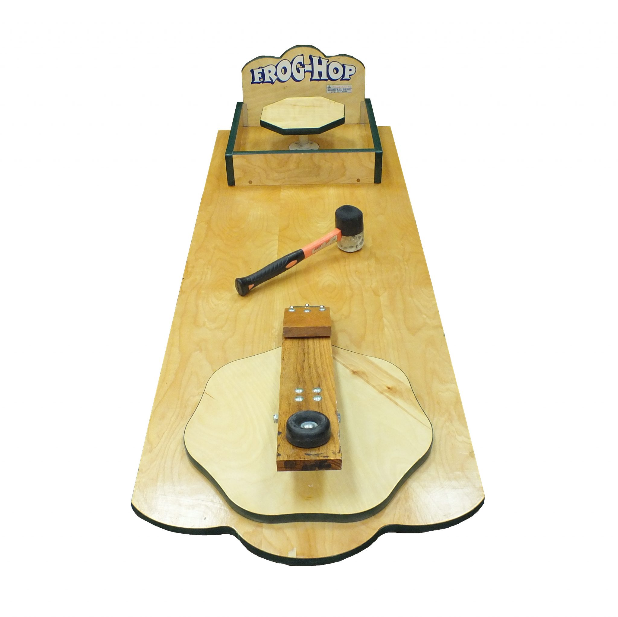 Wooden Frog Hop Carnival Game