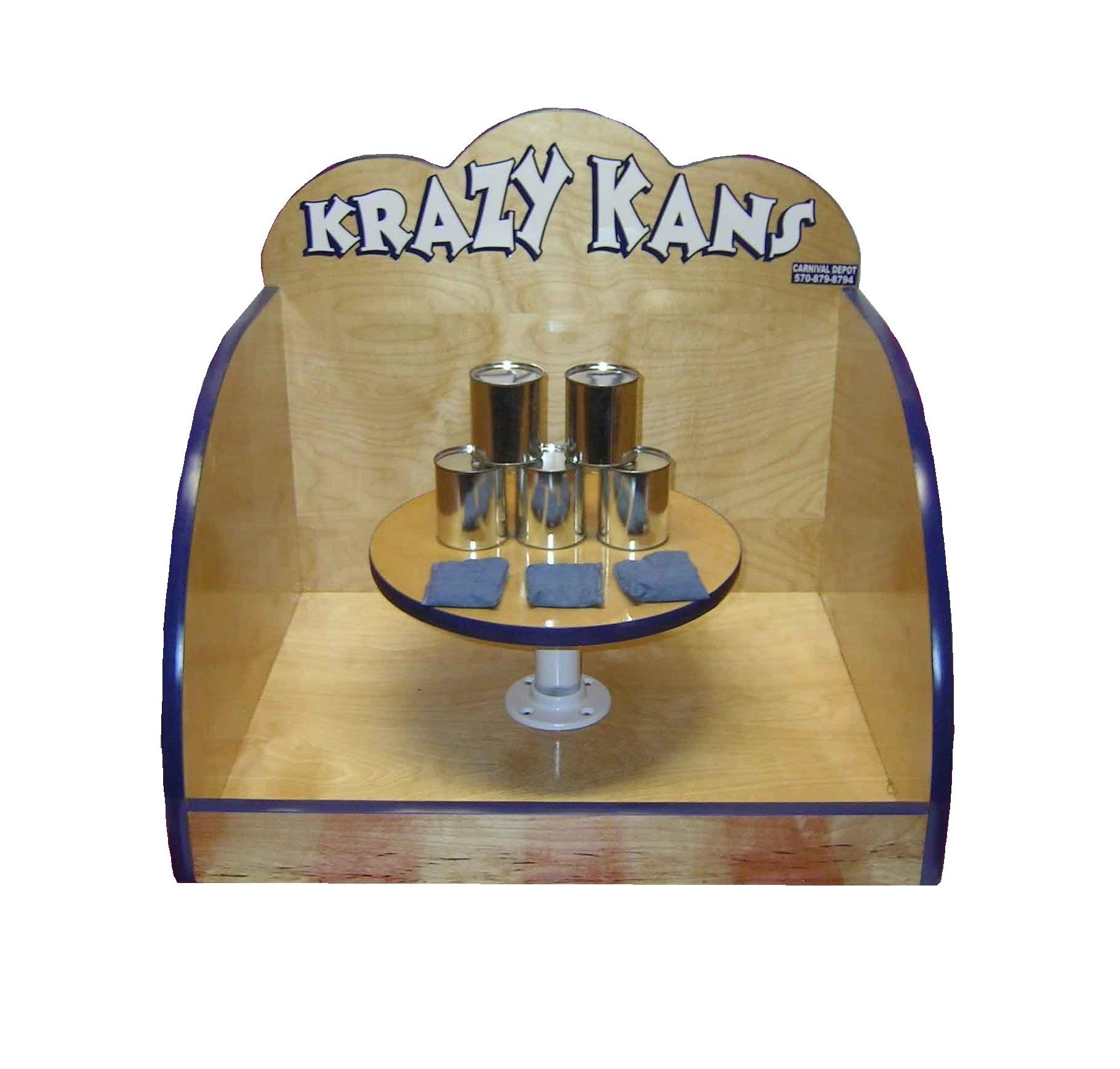 Wooden Krazy Kans Carnival Game