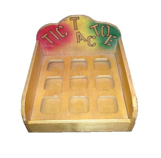 Wooden Tic Tac Toe Carnival Game