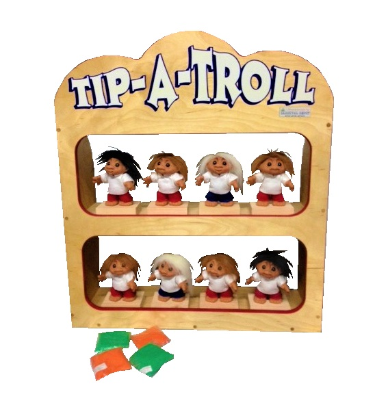 Wooden Tip A Troll Carnival Game
