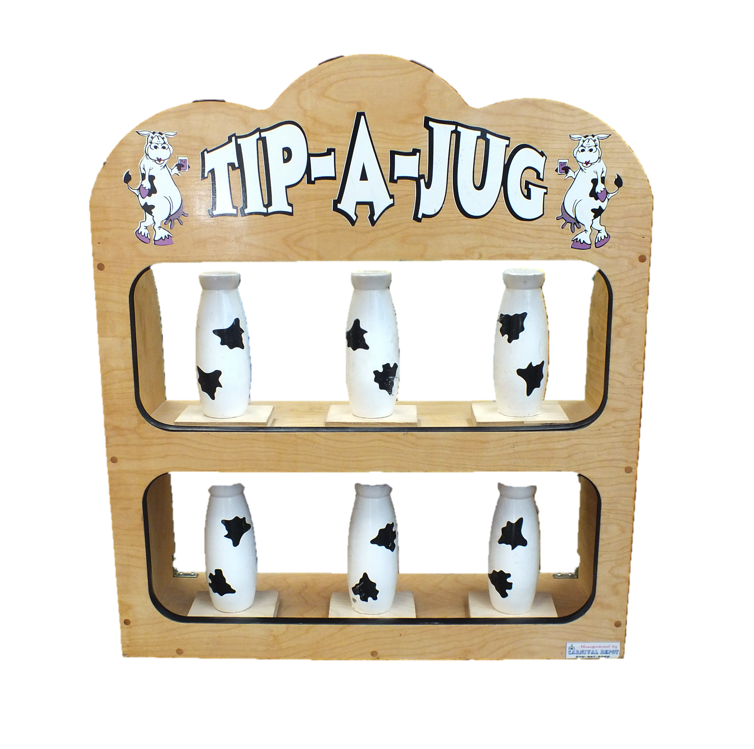 Wooden Tip A Jug Carnival Game