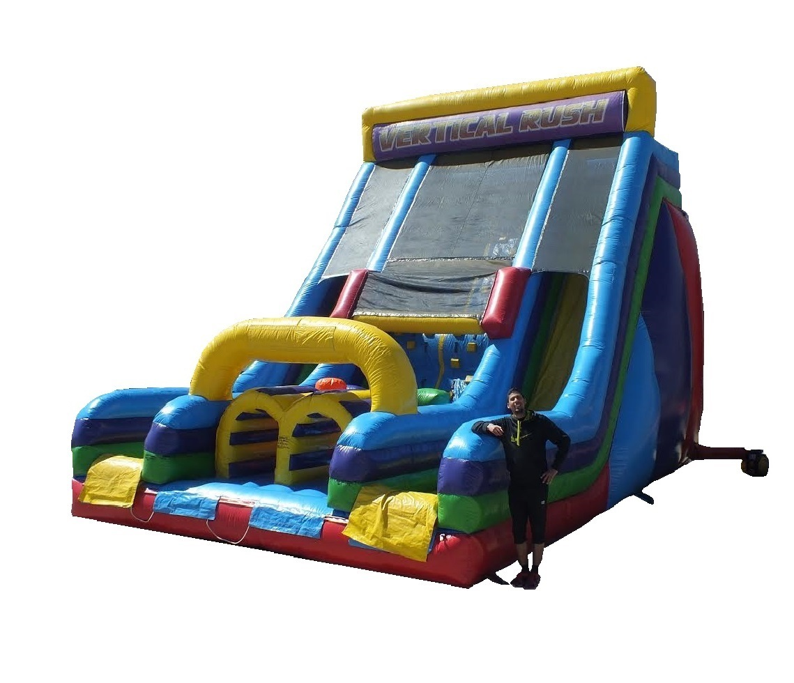 Vertical Rush Inflatable Slide