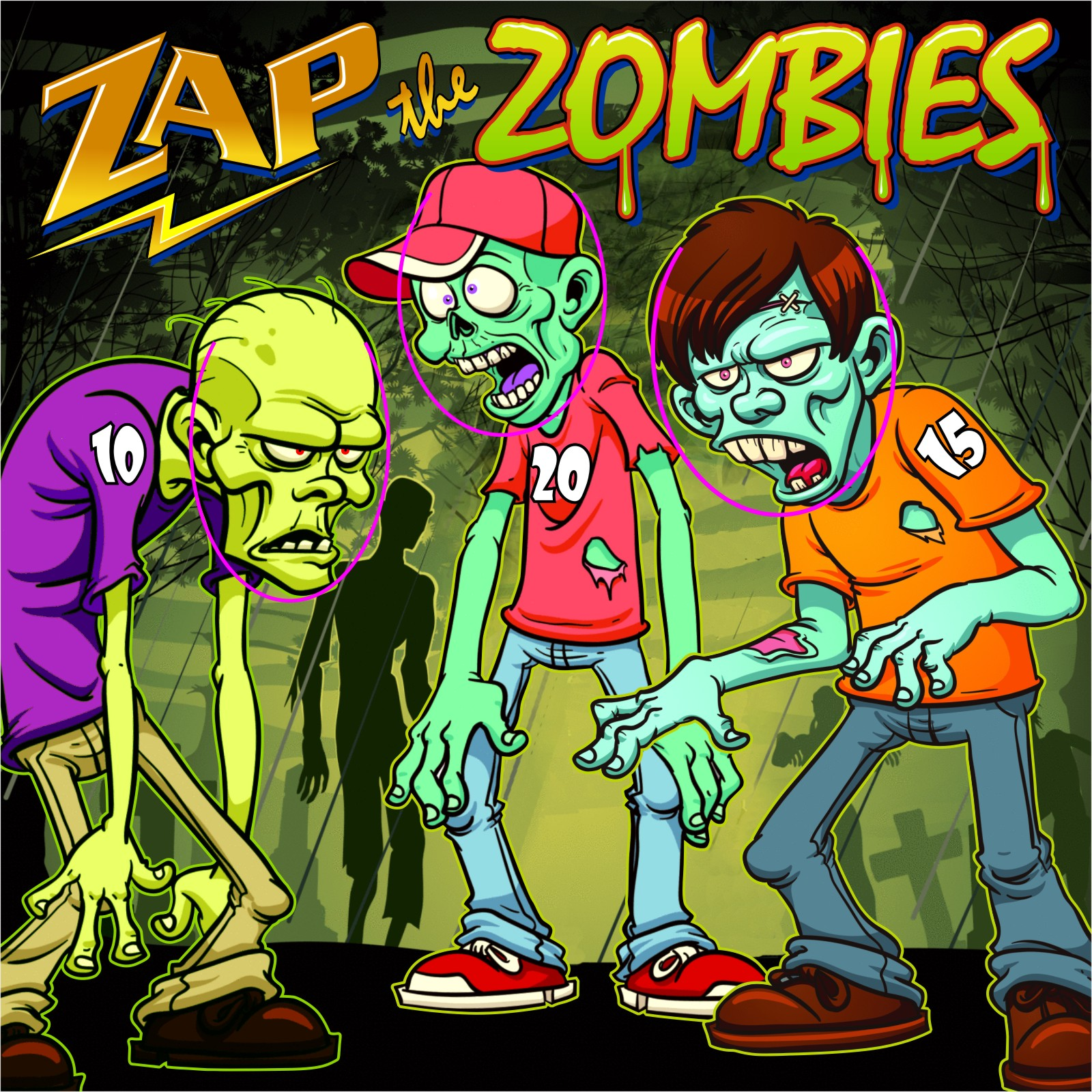 Freestanding Zap The Zombies Game