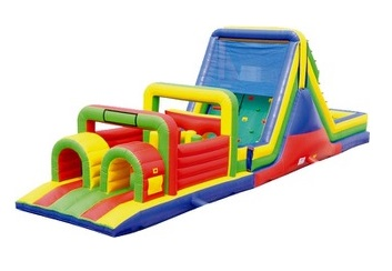 Rainbow Rush Obstacle Course Rental