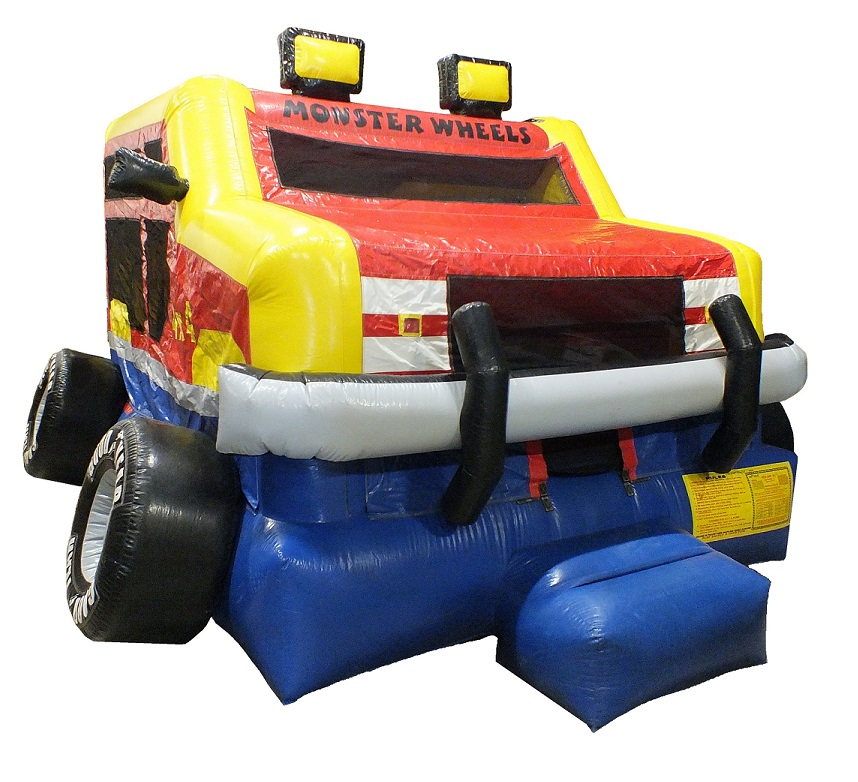 Monster Truck Wheel Inflatable Bouncy Castle